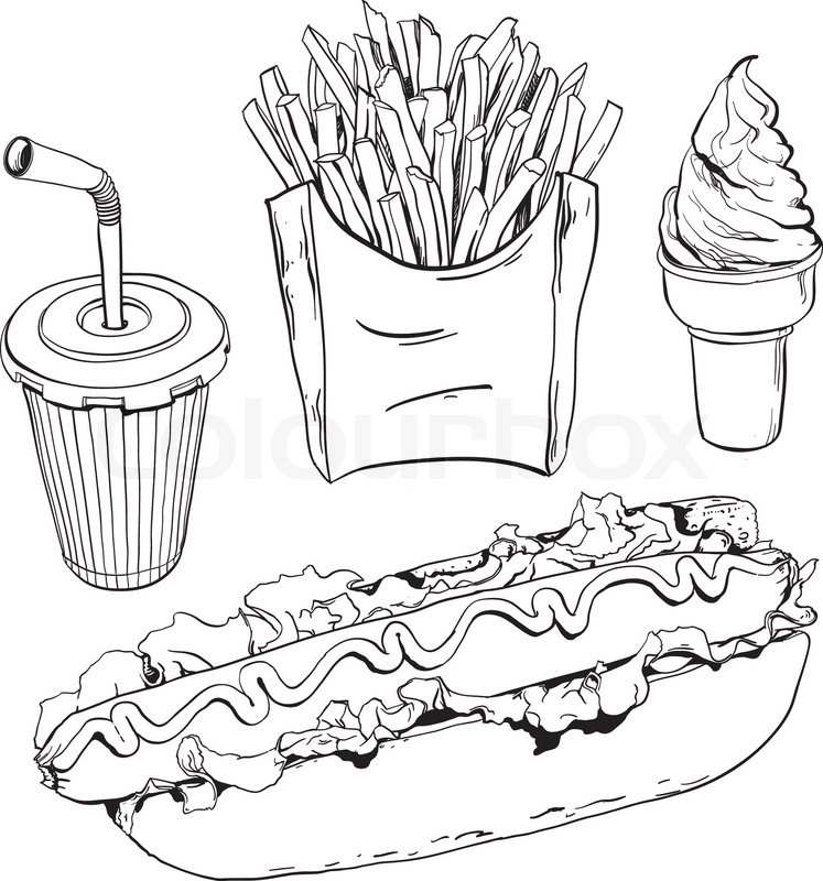 Healthy Food Fats Clipart Black And White
