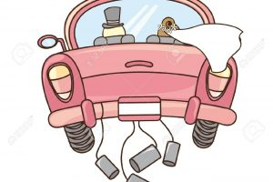 just married auto clipart 4
