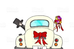 just married clipart 6