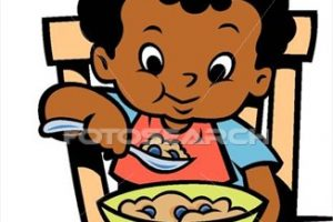 kids eating clipart 9