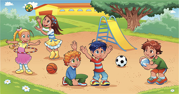 kids playing on playground clipart 5 | Clipart Station