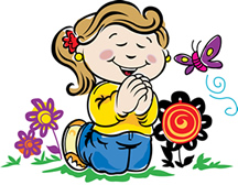 kids praying clipart 6