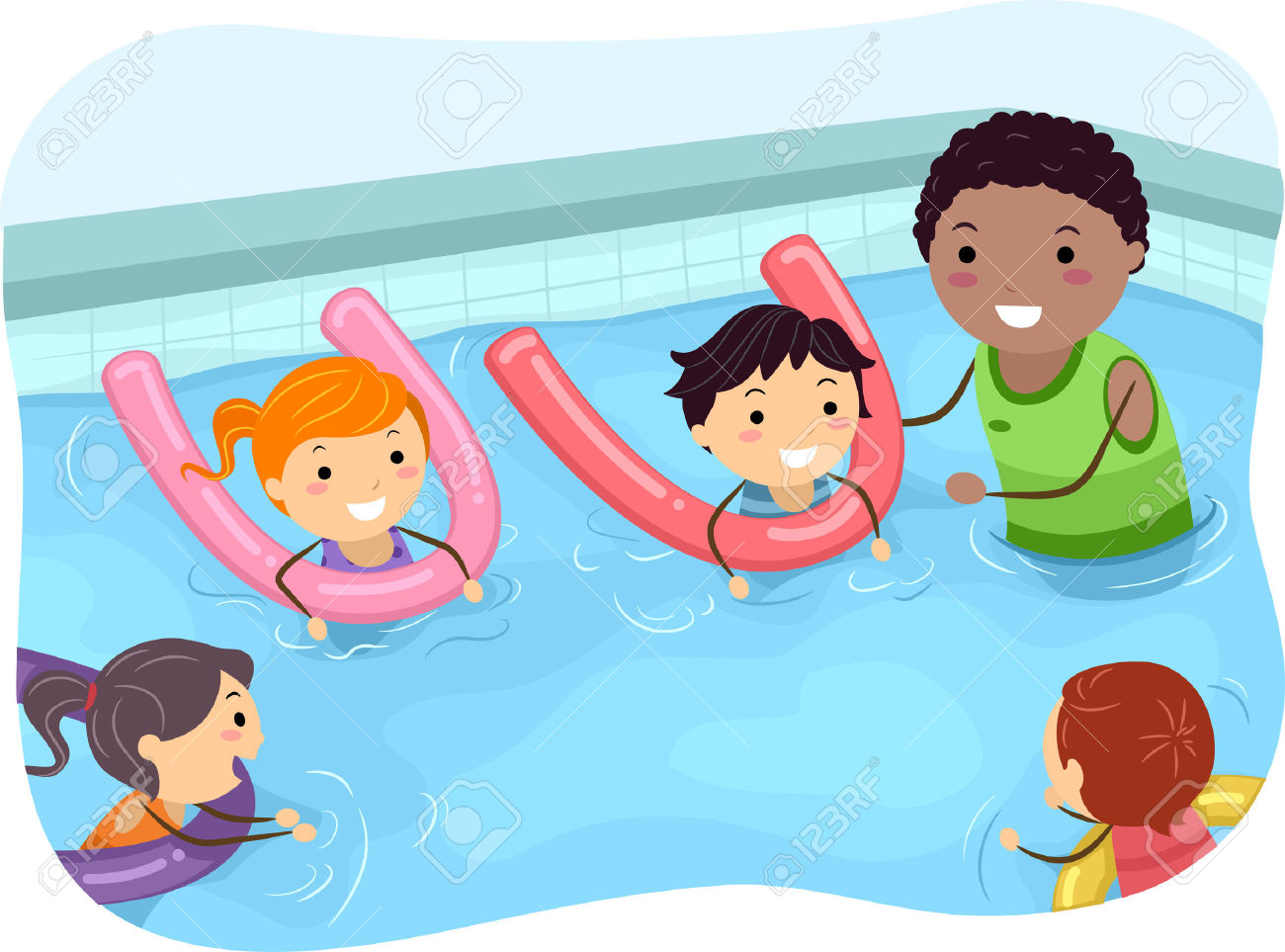 Kids swimming clipart 1 » Clipart Station