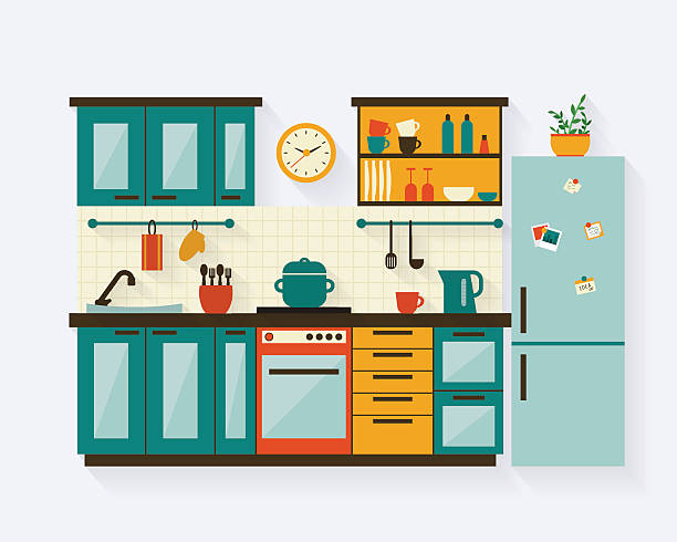 Kitchen Black And White Clipart