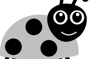 ladybird clipart black and white 3