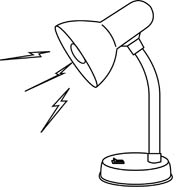 Lamp Clipart Black And White 1