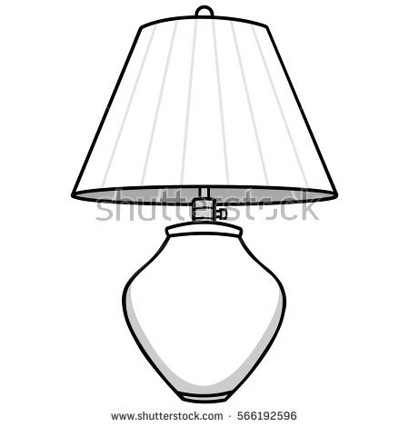 Lamp clipart black and white 2 » Clipart Station