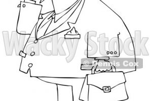 lawyer clipart black and white 3