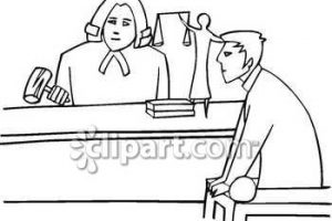 lawyer clipart black and white 4