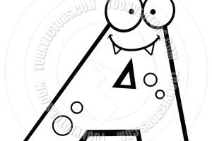 letter a clipart black and white 4