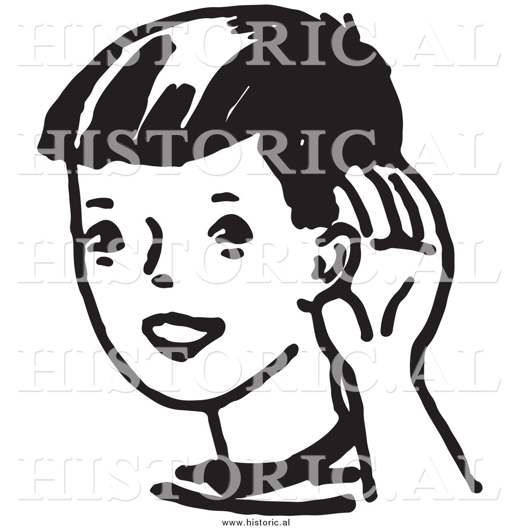 listen clipart black and white 2 » clipart station