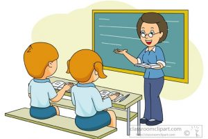 listen to teacher clipart