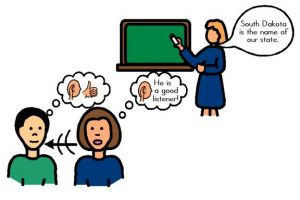 listen to the teacher clipart 6