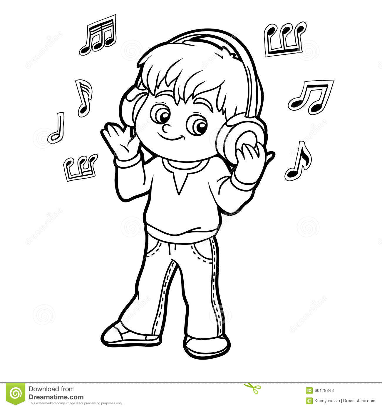 Listening to music clipart black and white 1 » Clipart Station