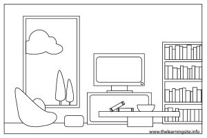 Living Room Clipart Black And White 14
