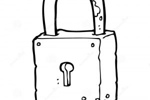 lock clipart black and white 3