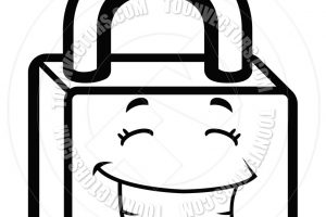 lock clipart black and white 7