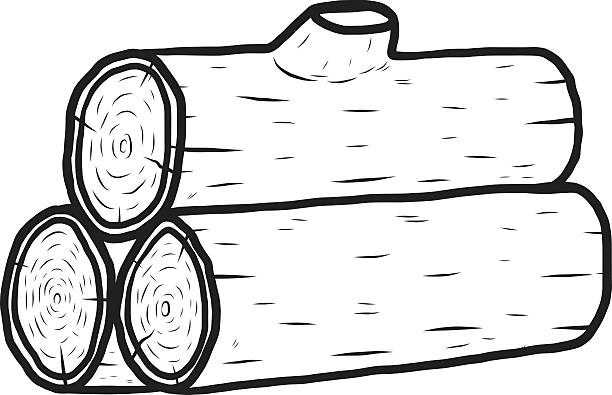 log black and white clipart 3 | Clipart Station