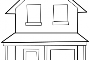 mansion clipart black and white 1
