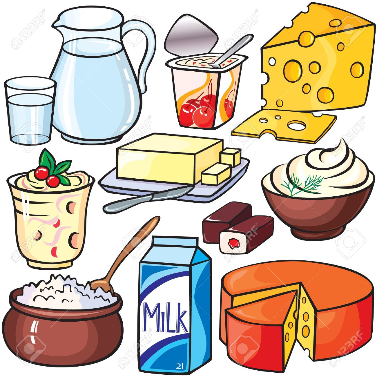 dairy milk clipart clip food yogurt cliparts sour storage icon clipground collection