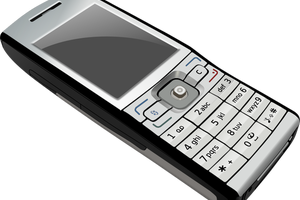 mobile clipart black and white 8