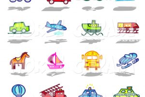 modes of transport clipart 3