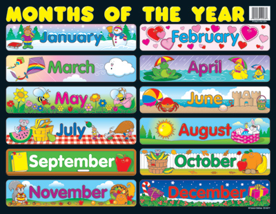 Months of the year clipart 11 » Clipart Station