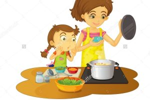 mother cooking clipart 3