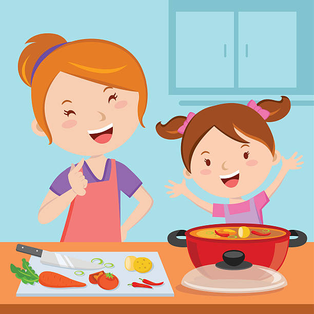 Cooking Kitchen Clip Art: Mother Cooking Clipart 8 » Clipart Station
