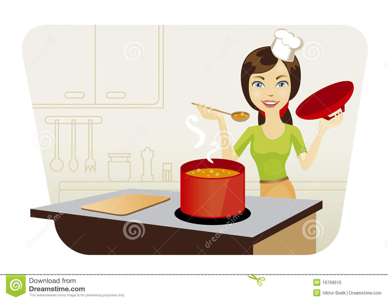 mother cooking in the kitchen clipart 7 | Clipart Station