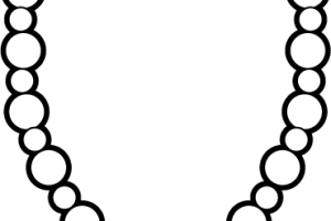necklace clipart black and white