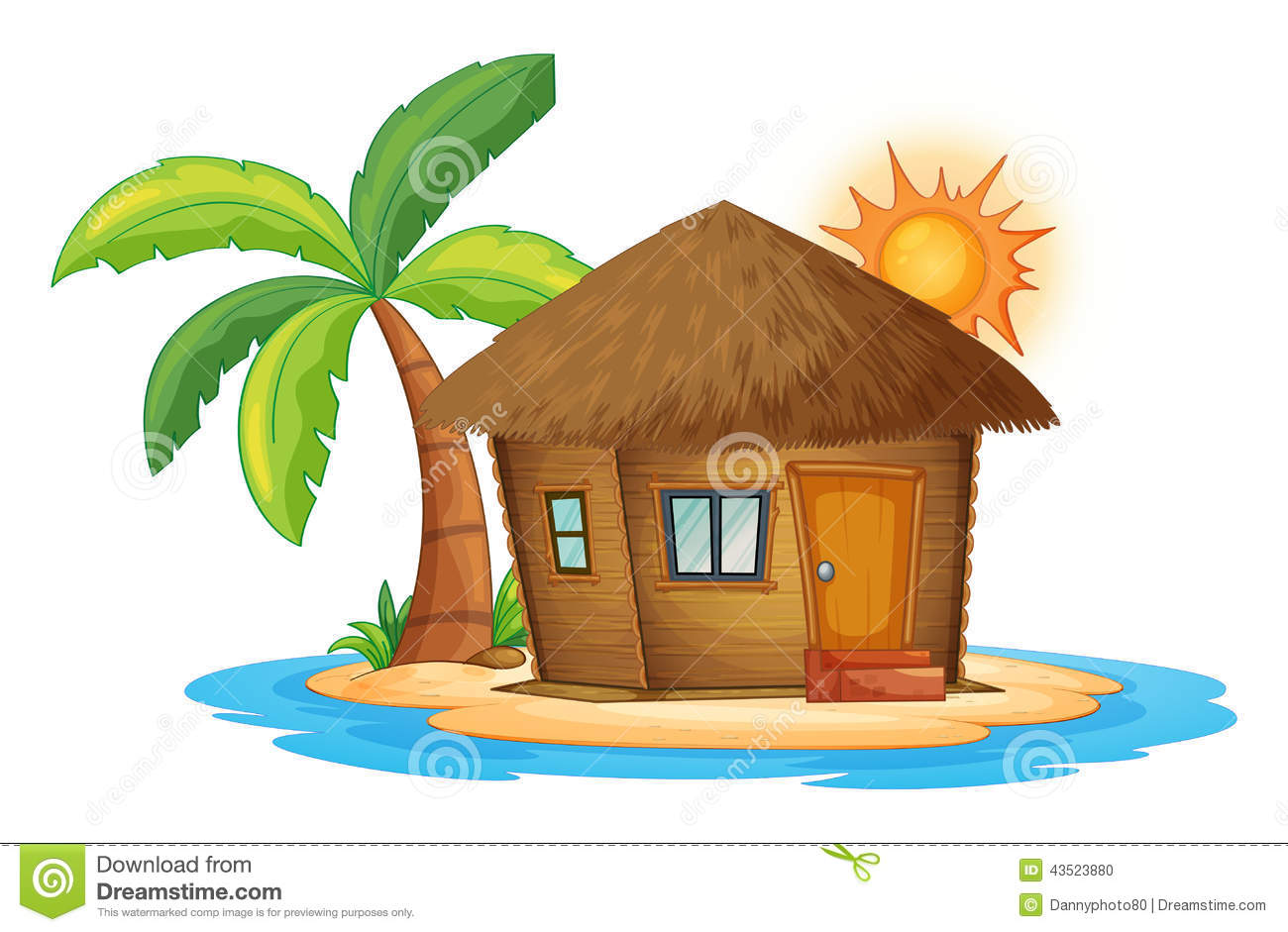 Nipa Hut Clipart Black And White 7