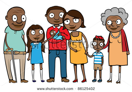 Nuclear Family Clipart Black And White 1