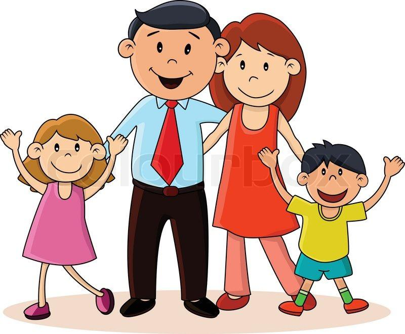 Nuclear Family Clipart Black And White 3