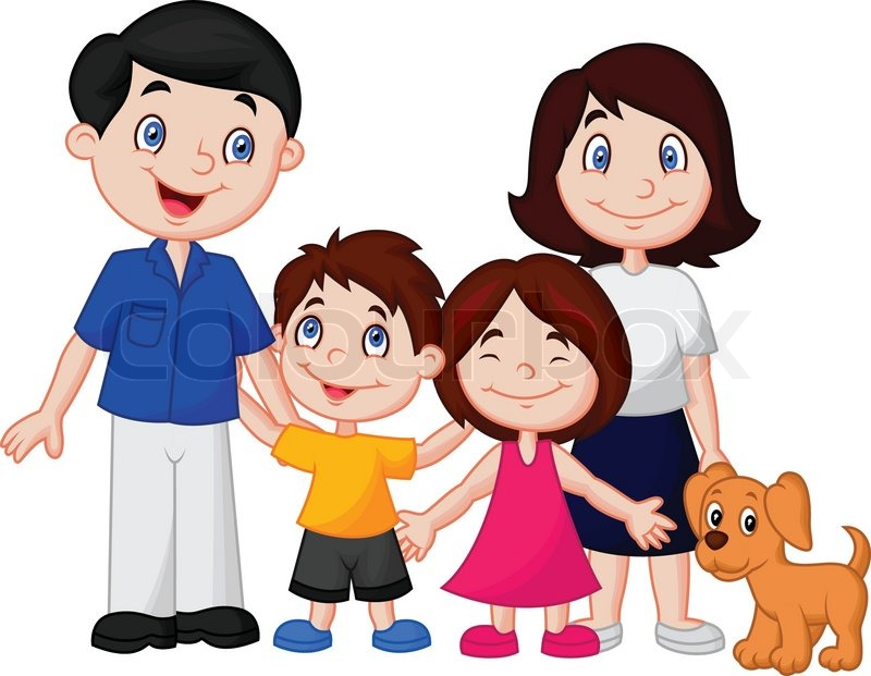Nuclear Family Clipart Black And White 8 Clipart Station