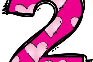 Pink Number 2 Clipart