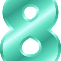 number 8 clipart 10