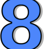 number 8 clipart 7