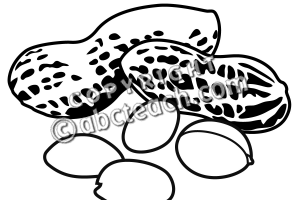 nut clipart black and white 2
