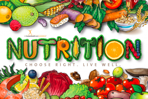 nutrition month background clipart