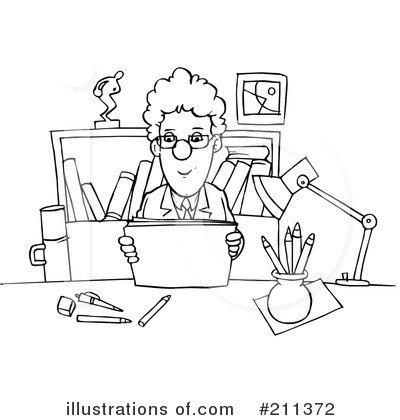office clipart black and white 3 clipart station