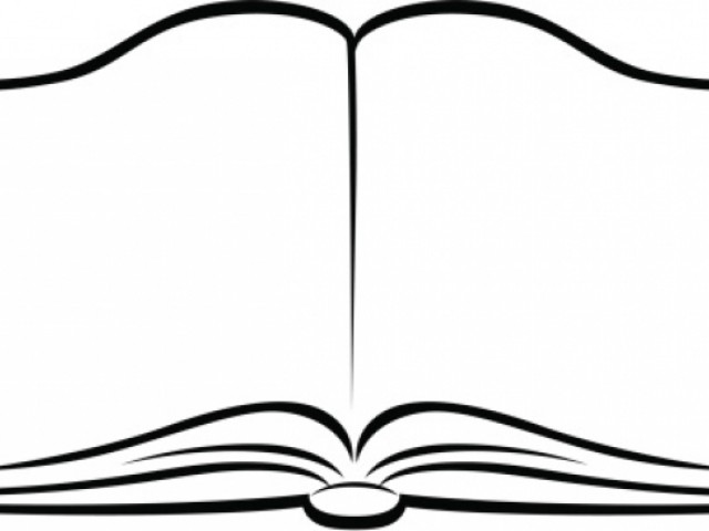 Open Book Clipart Black And White 5 Clipart Station