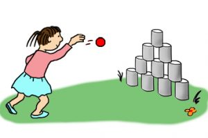 outdoor games for kids clipart 11