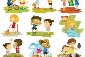 outdoor games for kids clipart 12