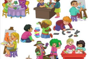 outdoor games for kids clipart 3