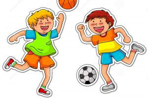 outdoor games for kids clipart