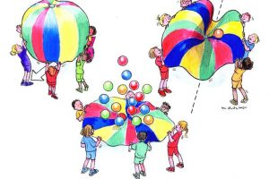 outdoor games for kids clipart 4