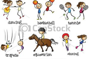 outdoor games for kids clipart 5