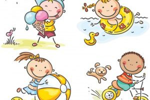 outdoor games for kids clipart 7