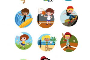 outdoor games for kids clipart 8
